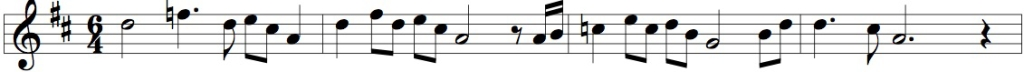 Not_melody example